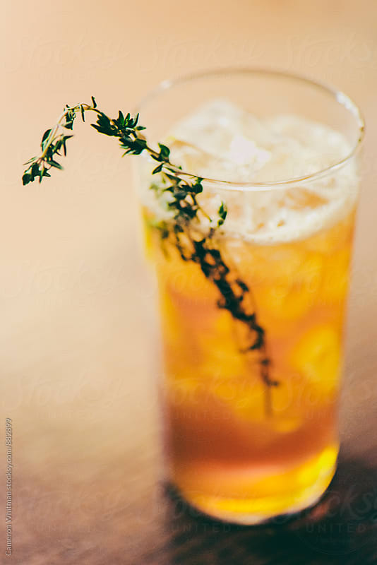 Herb Lemonade Wine Cocktail  by Cameron Whitman for Stocksy United