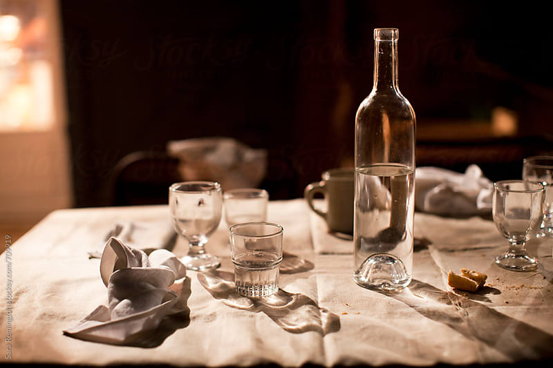 Family Table After Dinner by Sara Remington for Stocksy United