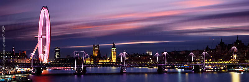 Sunset over the Thames River, London by Jason Denning for Stocksy United