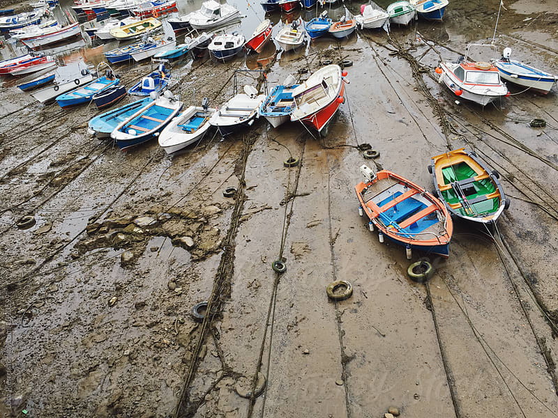 Low tide in Castro Urdiales, Spain by Luca Pierro for Stocksy United