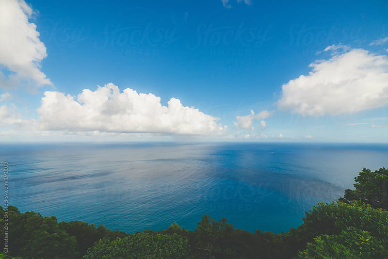 View on the ocean on a sunny day by Christian Zielecki for Stocksy United