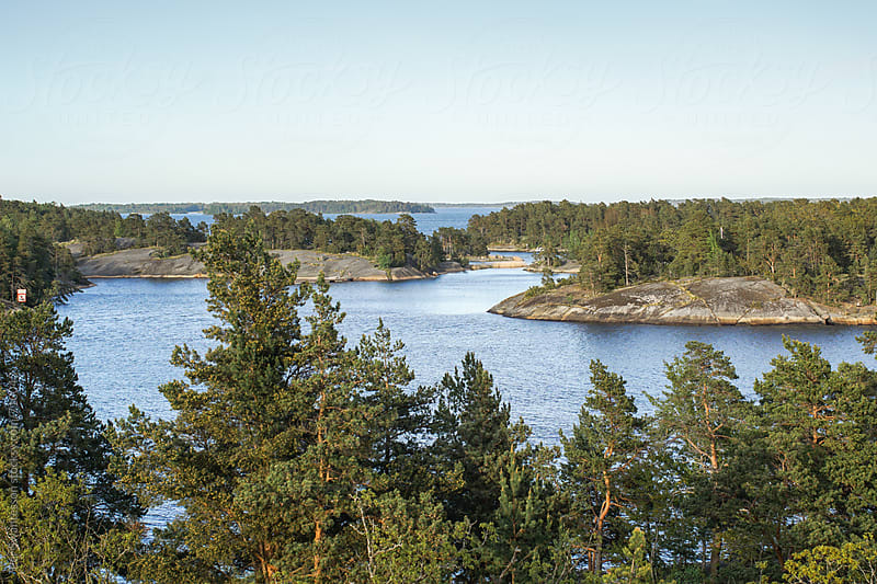 Scenic archipelago outside Stockholm, Sweden by Per Swantesson for Stocksy United