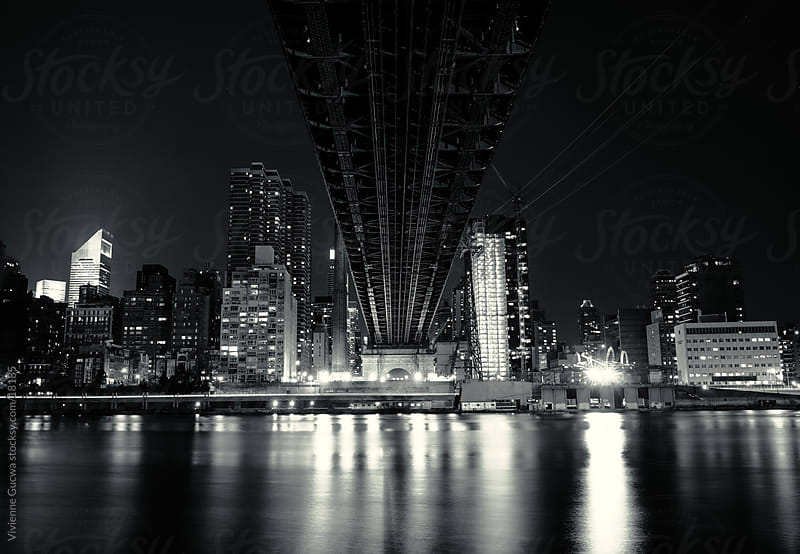 Under the Bridge - The New York City Skyline and the Queensboro Bridge by Vivienne Gucwa for Stocksy United