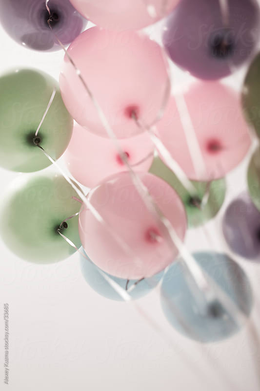 colored pastel balloons by Vesna for Stocksy United