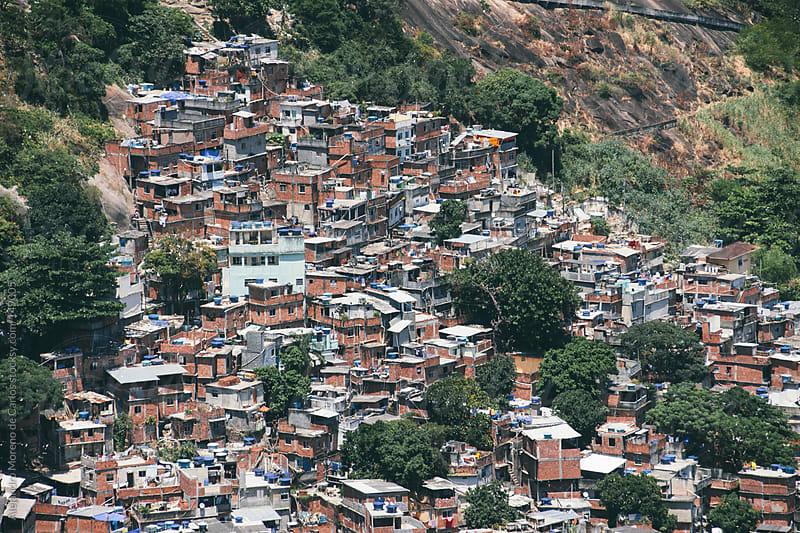 Favelas cityscape pattern. Slums by Alejandro Moreno de Carlos for Stocksy United