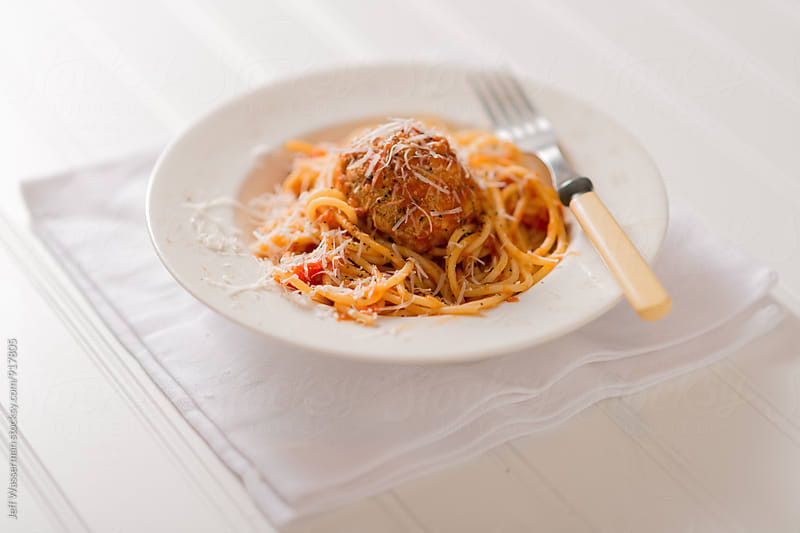 Spaghetti and Meatballs by Jeff Wasserman for Stocksy United