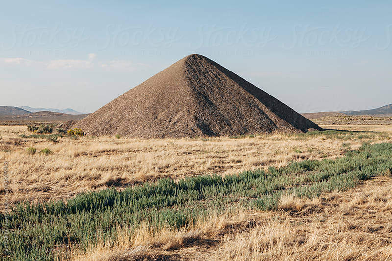 Gravel pile in field, near Jackpot, NV, USA by Paul Edmondson for Stocksy United