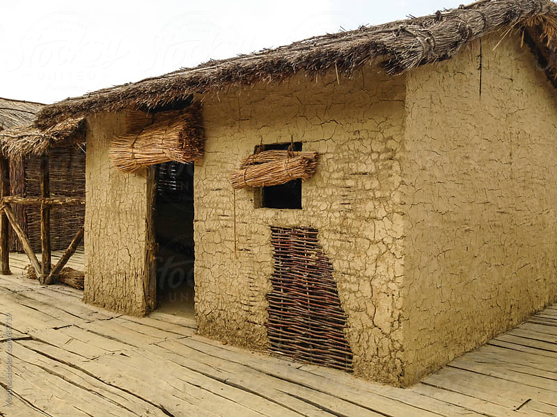 Reconstructed Prehistoric Settlement by Mosuno for Stocksy United