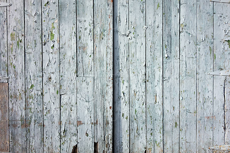 Door of Distressed Blue Wood Shed by Jeff Wasserman for Stocksy United