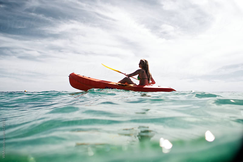 Female Sea Kayaking by WAA for Stocksy United
