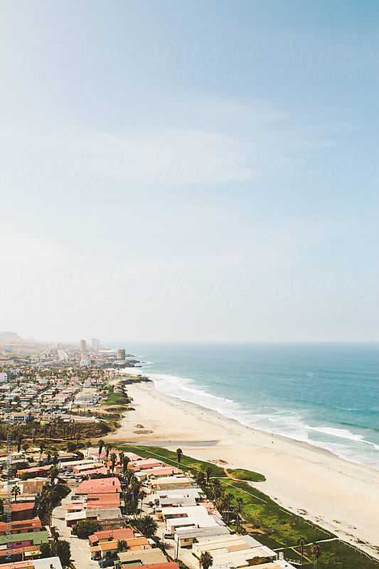 Ocean & City views, Roasarito Mexico by Nate & Amanda Howard for Stocksy United
