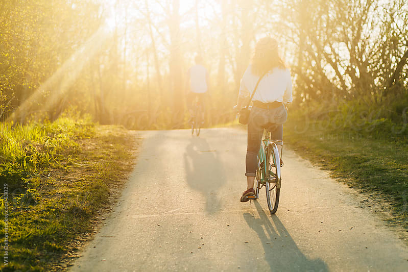 Bike Path at Sunset by Willie Dalton for Stocksy United