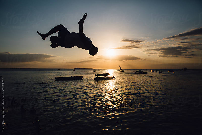 Backflip Jump by Diane Durongpisitkul for Stocksy United
