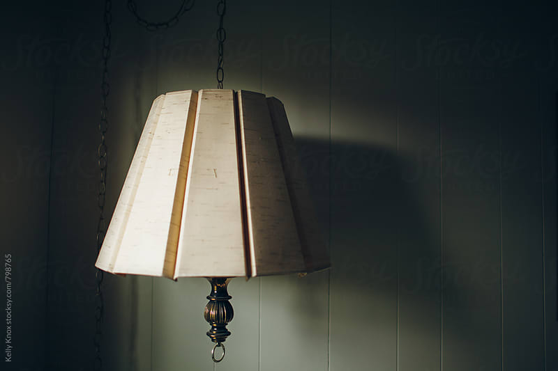vintage, mid-century hanging lamp by Kelly Knox for Stocksy United