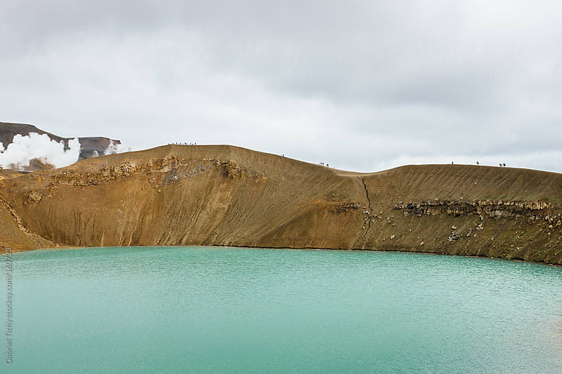 Volcanic landscape with Viti crater lake by Gabriel Tichy for Stocksy United