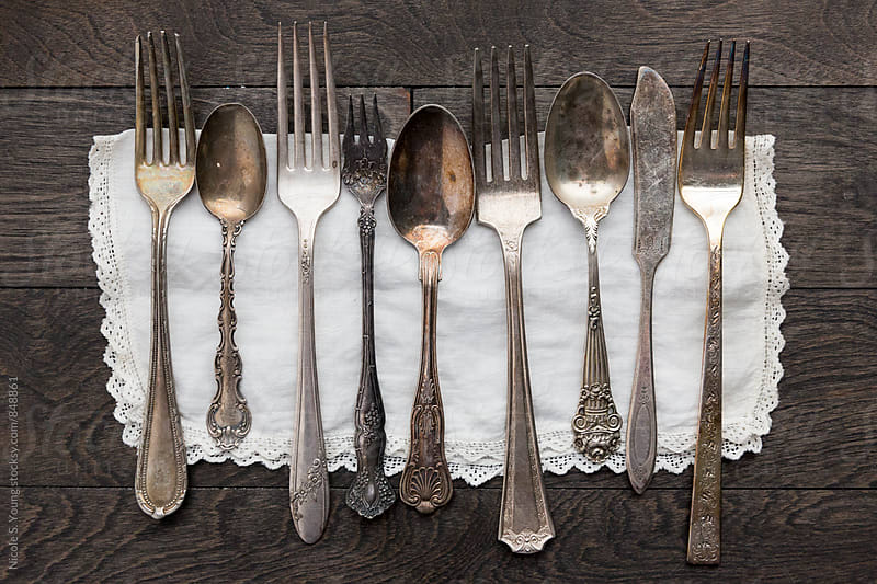 Antique Silverware by Nicole Young for Stocksy United