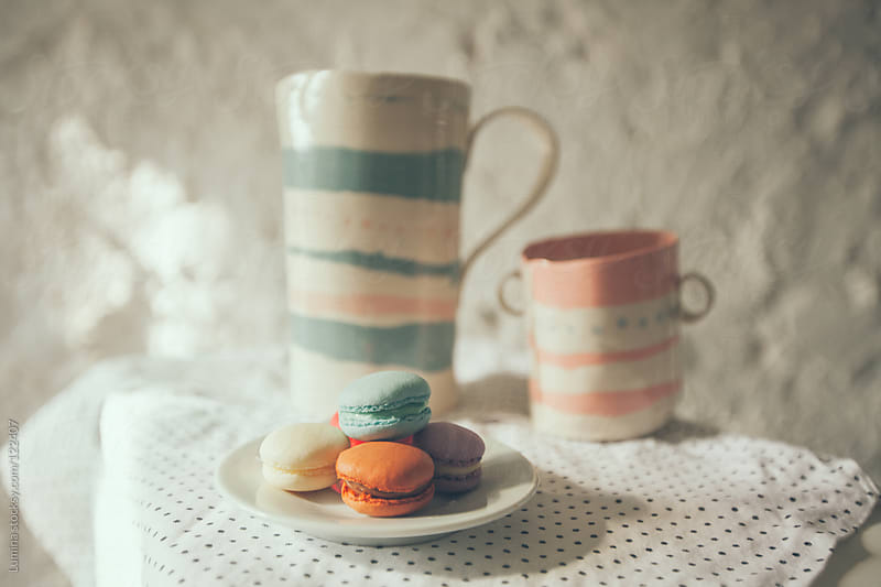 Macarons and Tea by Lumina for Stocksy United