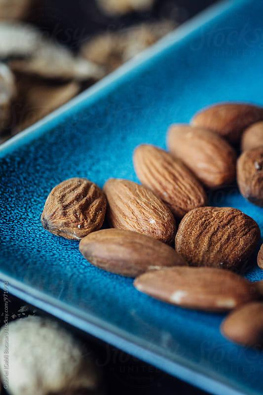 Almond kernels closup by Gabriel (Gabi) Bucataru for Stocksy United