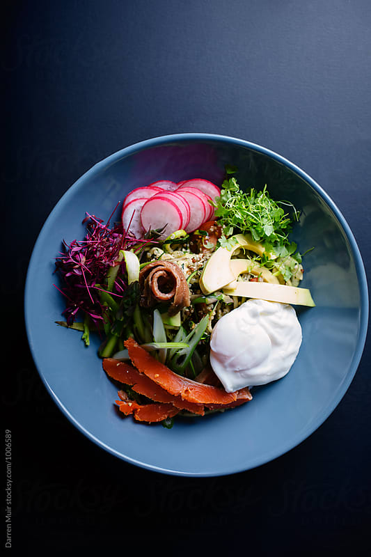 Healthy salad bowl. by Darren Muir for Stocksy United