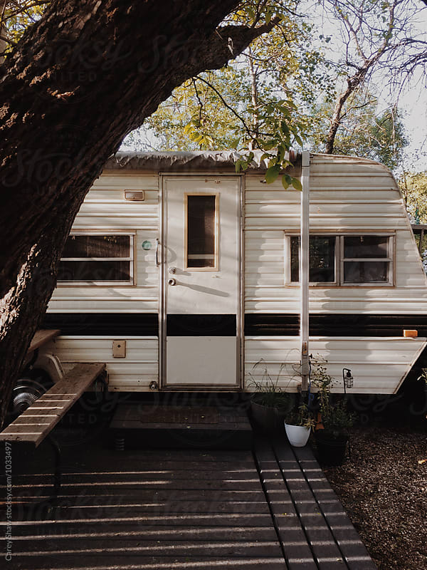 Vintage RV in trailer park by Carey Shaw for Stocksy United