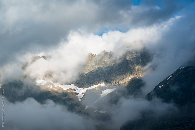 Foggy mountains by Peter Wey for Stocksy United