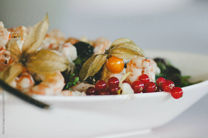 fruit and seafood by Karma Images for Stocksy United