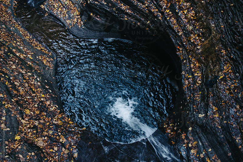 Waterfull in Watkins Glen, New York.  by Justin Mullet for Stocksy United