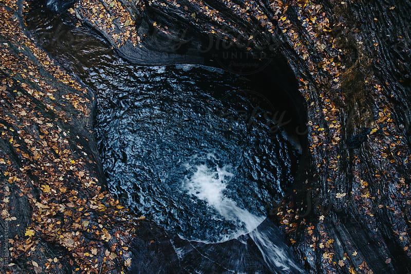 Waterfull in Watkins Glen, New York.  by Justin Mullet for Stocksy United