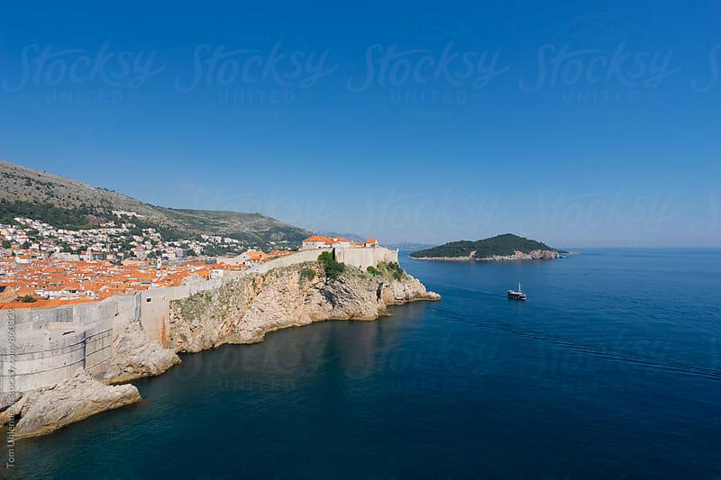 Dubrovnik and the Island of Lokrum on the Adriatic Coast, Croatia by Tom Uhlenberg for Stocksy United