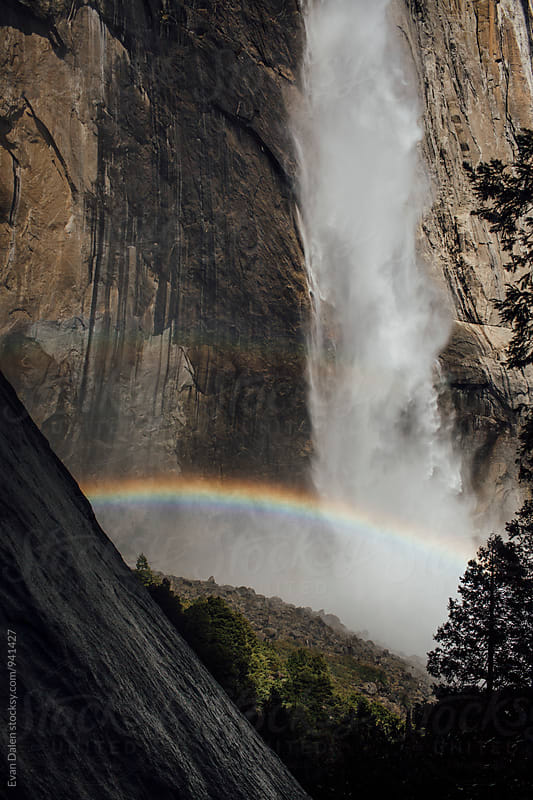 Upper Yosemite Falls Rainbow by Evan Dalen for Stocksy United
