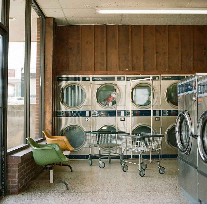 Retro Laundromat by Brad and Jen Butcher for Stocksy United