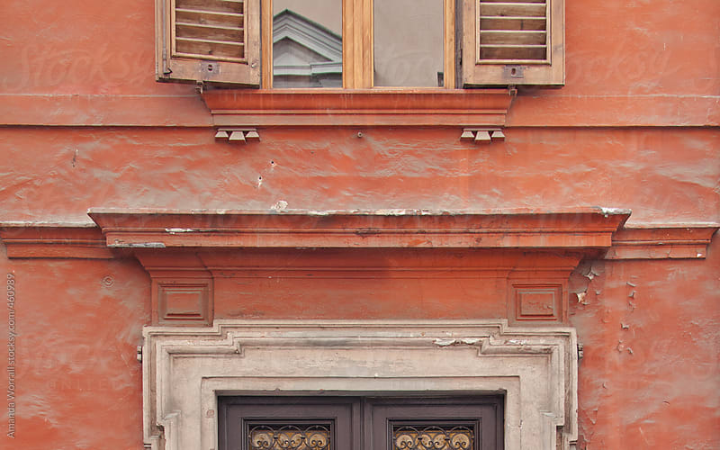 Facade of an Italian building by Amanda Worrall for Stocksy United