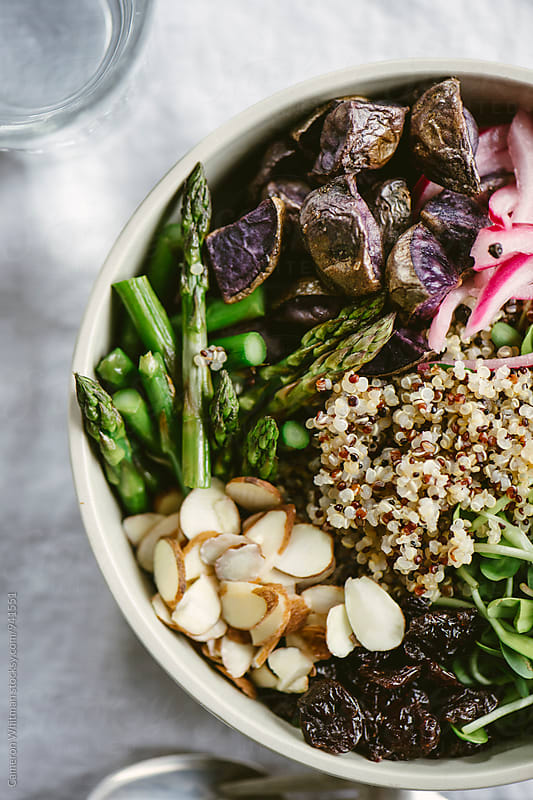 Healthy Quinoa Salad by Cameron Whitman for Stocksy United