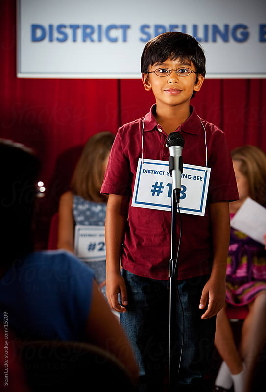 Spelling: Boy Stands Ready To Spell by Sean Locke for Stocksy United
