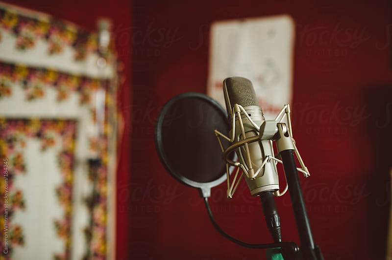 Microphone and pop filter by Cameron Whitman for Stocksy United
