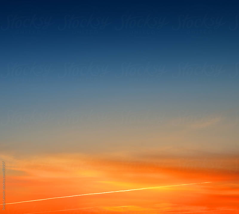 colors of the sky at sunrise by Sonja Lekovic for Stocksy United