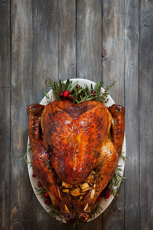 Thanksgiving: Roast Turkey and Herbs Background by Sean Locke for Stocksy United