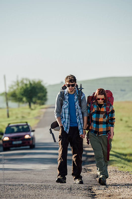 hiking couple  by RG&B Images for Stocksy United