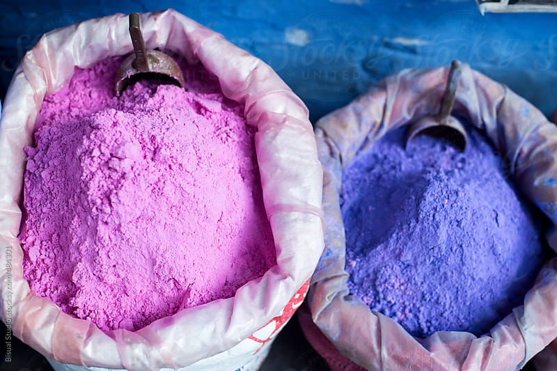 Coloured powdered pigments. by Bisual Studio for Stocksy United