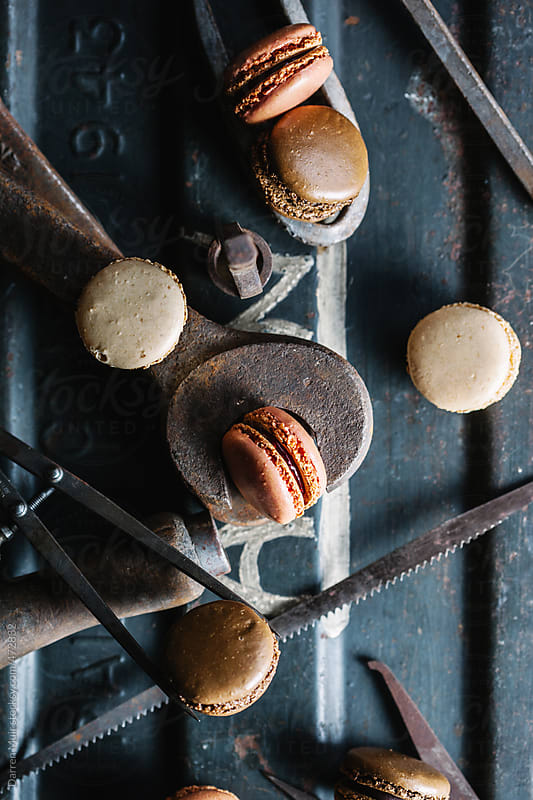 Macaroons and tools.  by Darren Muir for Stocksy United