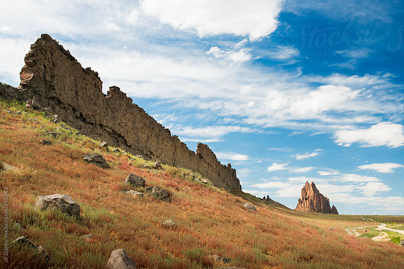 Shiprock New Mexico Navajo Nation with Volcanic Igneous Rock by JP Danko for Stocksy United