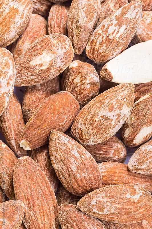 Roasted salted almonds by Marilar Irastorza for Stocksy United