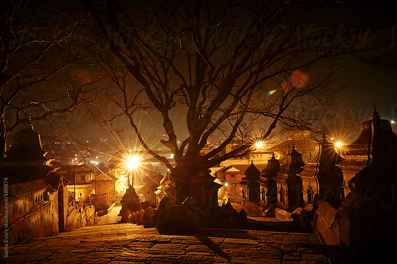 Pashupatinath - burial place and temple complex in Kathmandu by Sasha Evory for Stocksy United