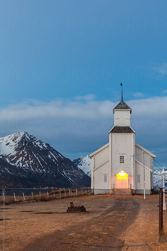 Wooden norwegian church by Marilar Irastorza for Stocksy United