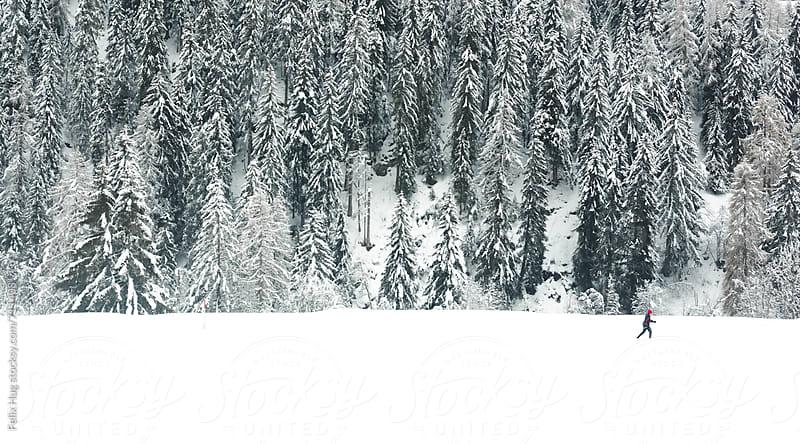 Ski touring in Switzerland by Felix Hug for Stocksy United