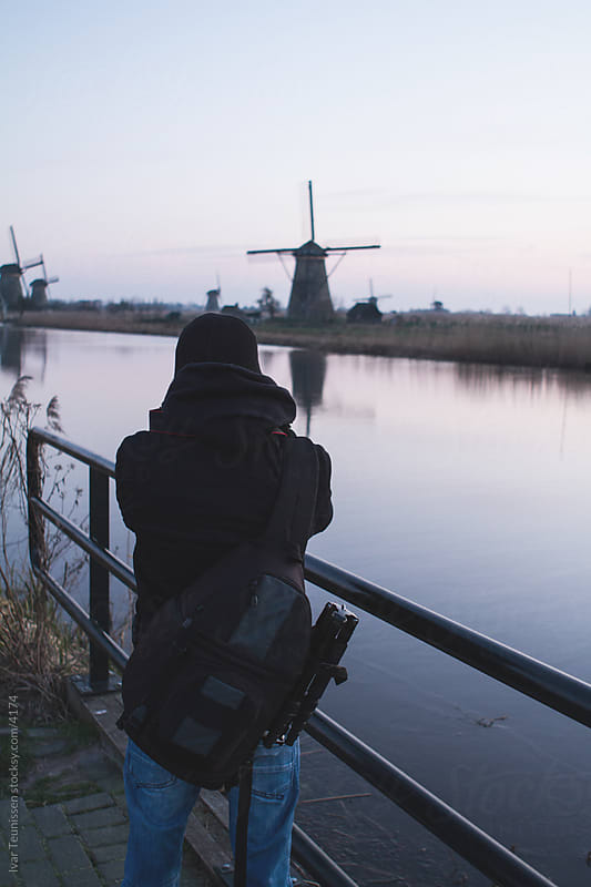 Photographing windmills by Ivar Teunissen for Stocksy United