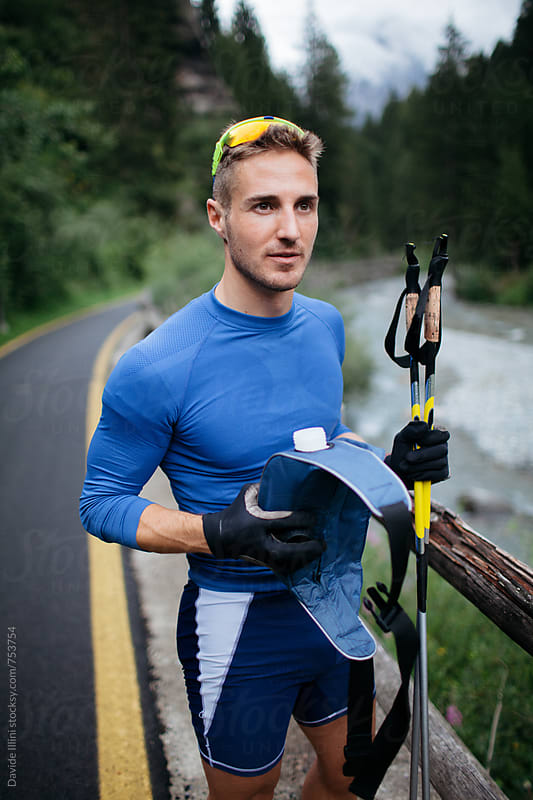 Portrait of an athlete outdoors by Davide Illini for Stocksy United