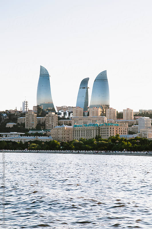 Baku skyline, Azerbaijan. by Thomas Pickard Photography Ltd. for Stocksy United