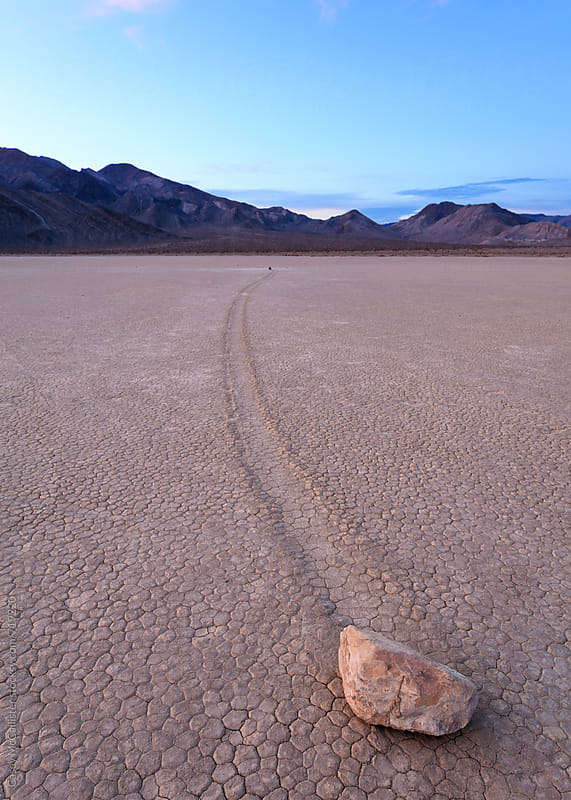 Sailing Stone in Death Valley by Casey McCallister for Stocksy United