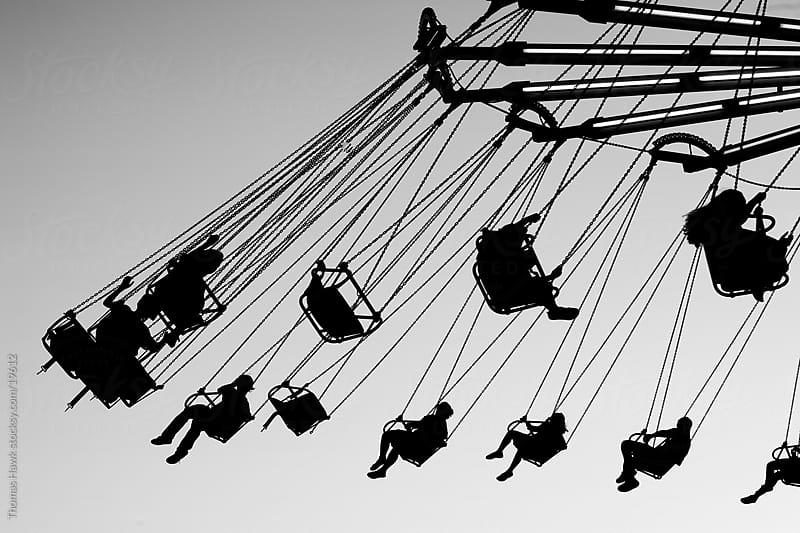 wave swinger silhouette by Thomas Hawk for Stocksy United